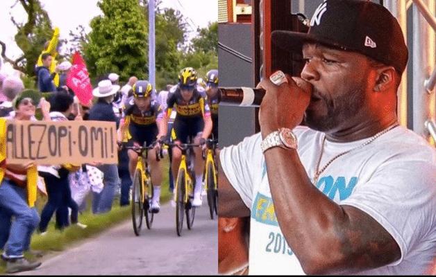 50 Cent défend la spectatrice à la pancarte détestée du Tour de France